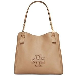 Tory Burch Harper Tote Brown Leather Bag